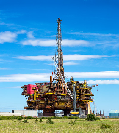 Brent Delta Oil Platform - At Teesside for Scrapping 2017