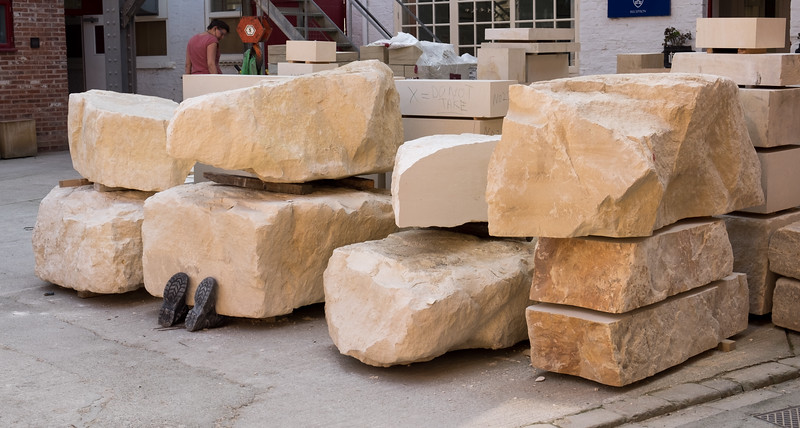 Stone and Body - York Minster Stoneyard York North Yorkshire UK 2015