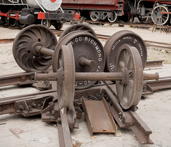 Richmond VA Train Wheels in a Havana Yard