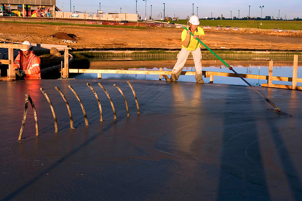 Smoothing the concrete! If you know what its really called - let me know!