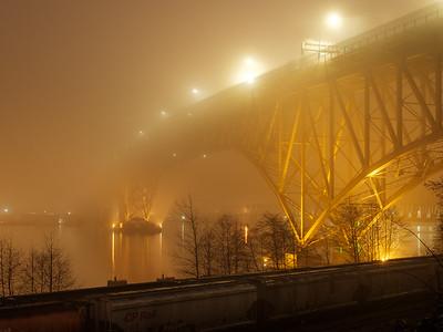 Bride in the Fog