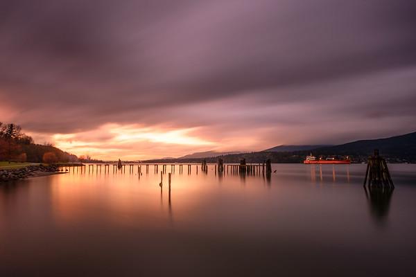 Barnet Marine Park Sunset