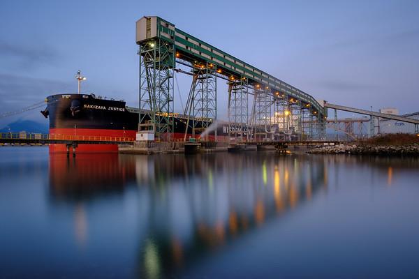 Freighter at Viterra Terminal Reflection