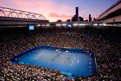 Australian Open Tennis. Melbourne Australia. 27/01/2008 Mens Final. Novak DJOKOVIC (Srb) beat Jo-Wilried TSONGA (Fra) in four sets lasting 3 hours and 6 minutes. 4:6,6:4,6:3,7:6. Rod Llaver Arena. © Damir S. IVKA