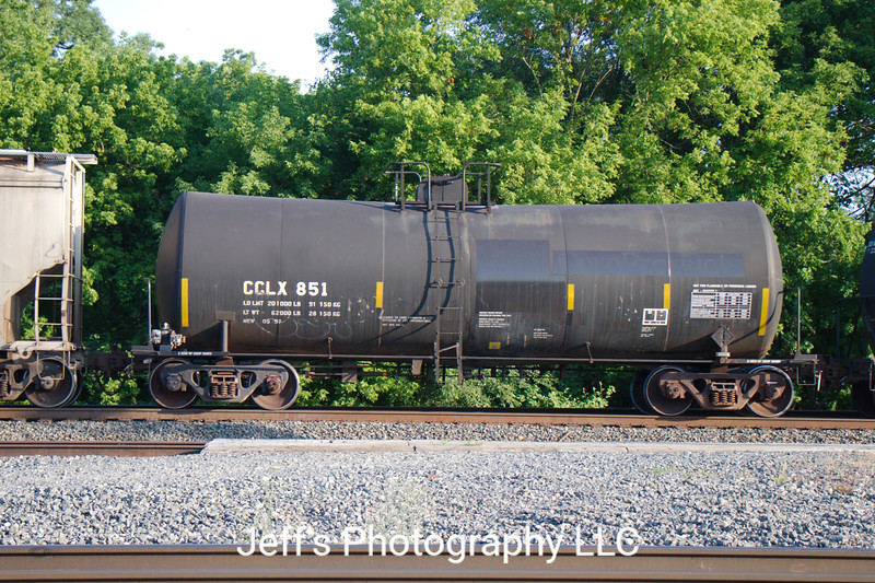 Crystal Car Line Incorporated 24,120 Gallon Tank Car No. 851