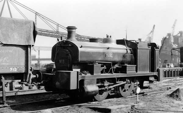 No.8 is AB 730/1893 Andrew Barclay 0-4-0ST built in 1893 (Works No.730) for Mawson Clarke & Co. Ltd., of Dunston, Co. Durham.  It was rebuilt by the dealer, John F. Wake & Co. Ltd., of Darlington, Co. Durham, in 1921 and after rebuilding, supplied by them to Beckton By-Products Works.  It was scrapped on site at Beckton by Thomas W. Ward Ltd., in June 1961.