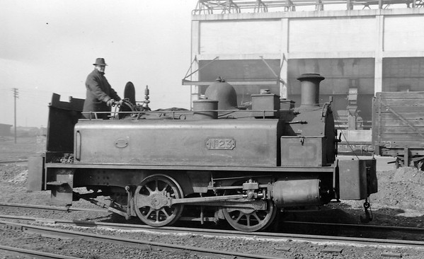 No.23 N 4408/1892  Neilson 0-4-0T built in 1892 (Works No. 4408) and supplied new to Beckton.  It was rebuilt in the workshops at Beckton in 1931.  Scrapped on site by H.F.A. Dolman Ltd., of Southend-on-Sea in November 1960.
