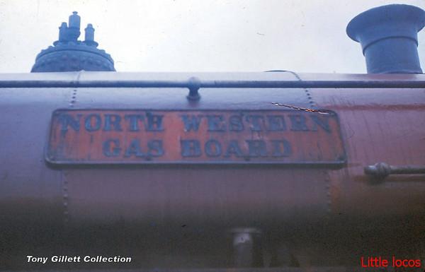 NWGB Peckett 1999 at Darwen Gas Works August 1966 nameplate