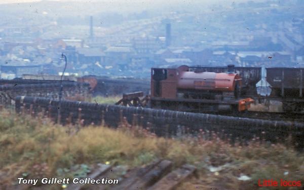 NWGB Peckett 1999 at Darwen Gas Works August 1966 (4)