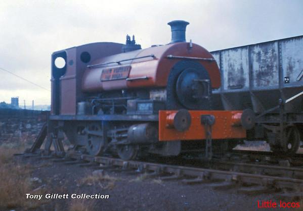 NWGB Peckett 1999 at Darwen Gas Works August 1966 (1)