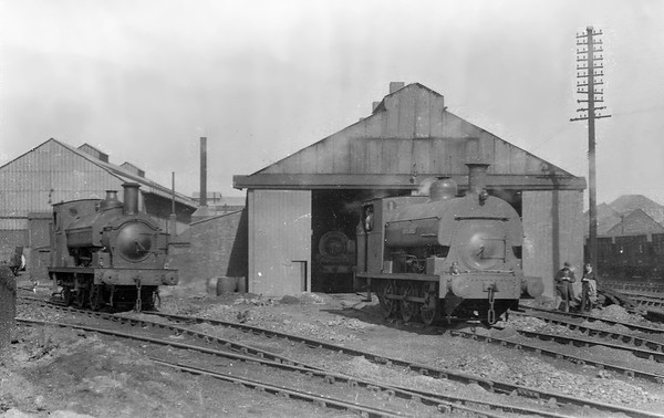 . No.10 (RS 3378/1909) at Philadelphia Shed on the Lambton colliery system