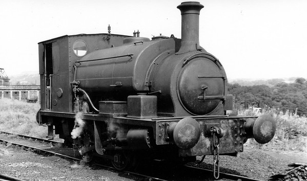 Hudswell Clarke 1435 of 1922 'Nellie' at Esholt sewage works near Bradford.