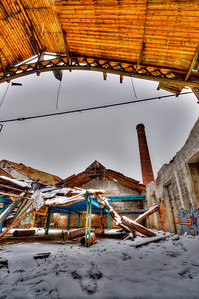 February 22, the roof collapsed. Taken couple days later. HDR of questionable quality :-)