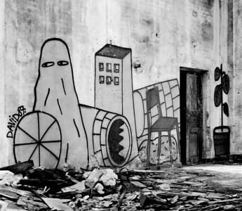 The Graffiti. Hasselblad, Ilford FP4