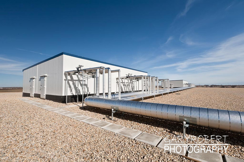 Ammonia Roof Piping to Evaporators in Penthouse