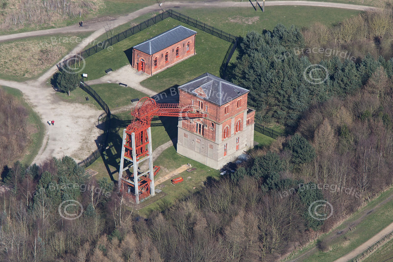 An aerial photo of Bestwood Colliery.