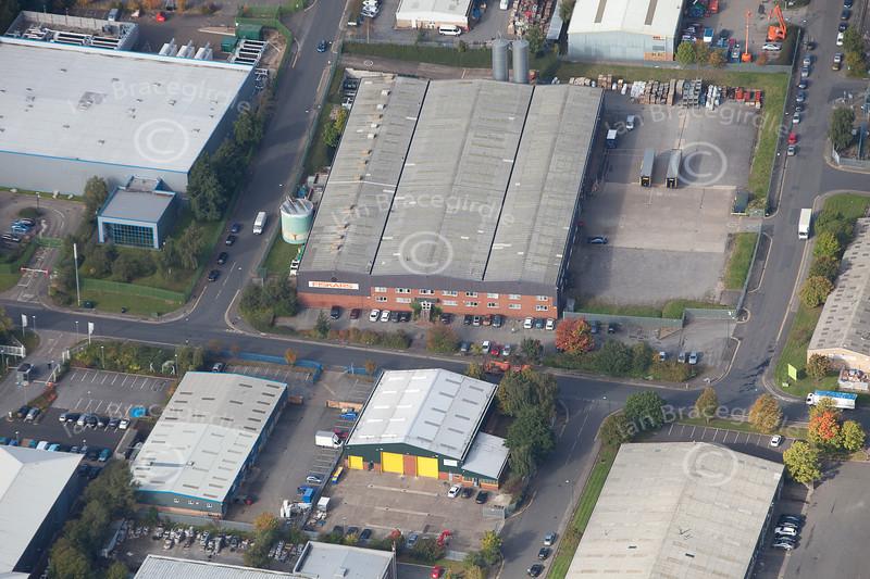 Aerial photos of Blenheim Industrial Estate in Bulwell, Nottinghamshire.