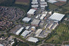 Aerial photography of Blenheim Industrial Estate in Bulwell, Nottinghamshire.