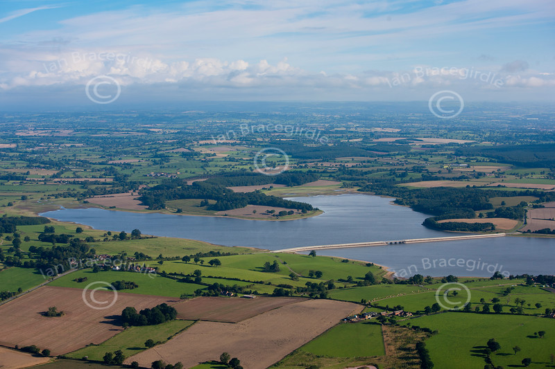 Blithfield Reservoir aerial photo.