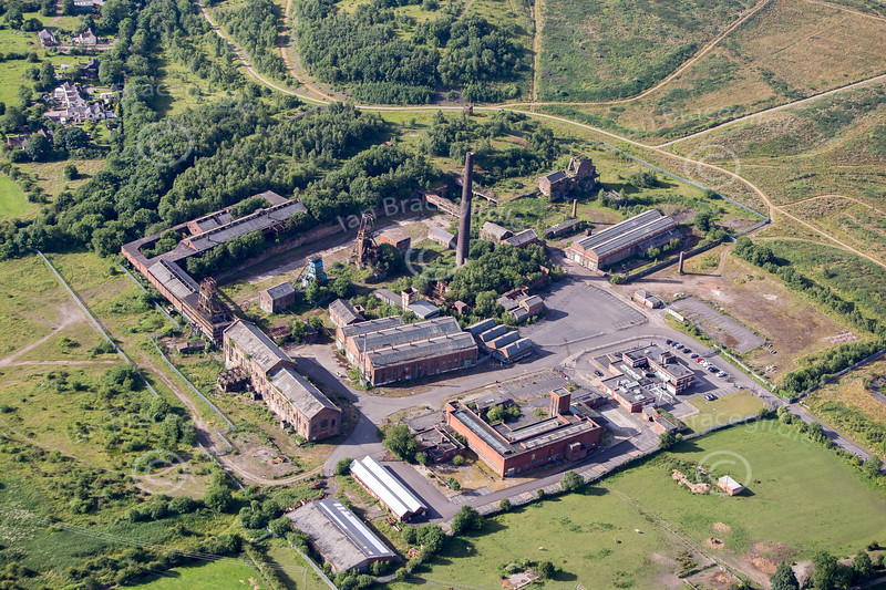 Aerial photo of Chatterley Whitfield mine