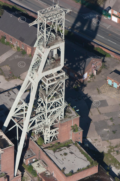 Clipstone Colliery in Nottinghamshire from the air.