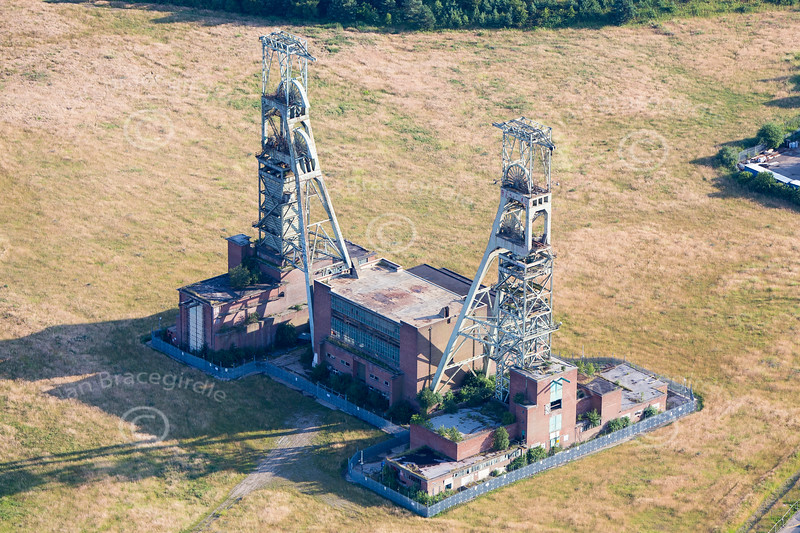 Aerial photo of Clipstone Colliery in Nottinghamshire.