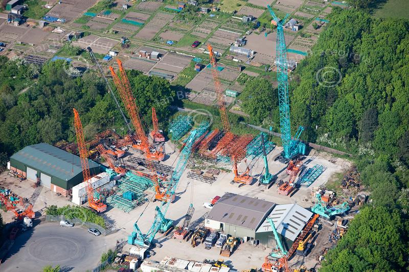 Aerial photos of Meadow Lane Industrial Estate in Alfreton, Derbyshire.