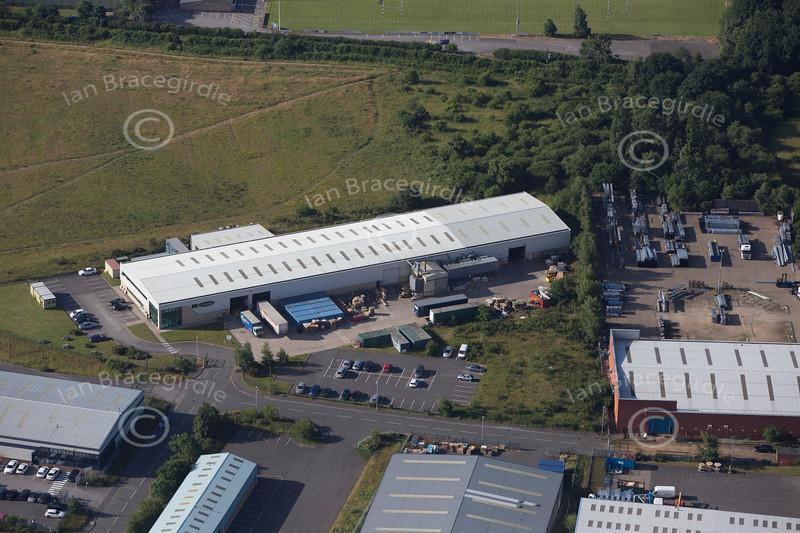 Aerial photo of Crown Farm Industrial Estate-4