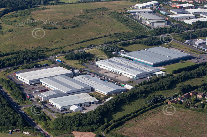 Aerial photo of Crown Farm Industrial Estate-1
