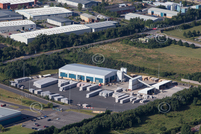 Aerial photo of Crown Farm Industrial Estate-2