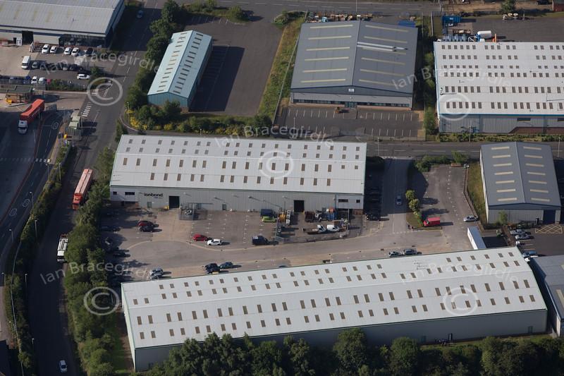 Aerial photo of Crown Farm Industrial Estate-3