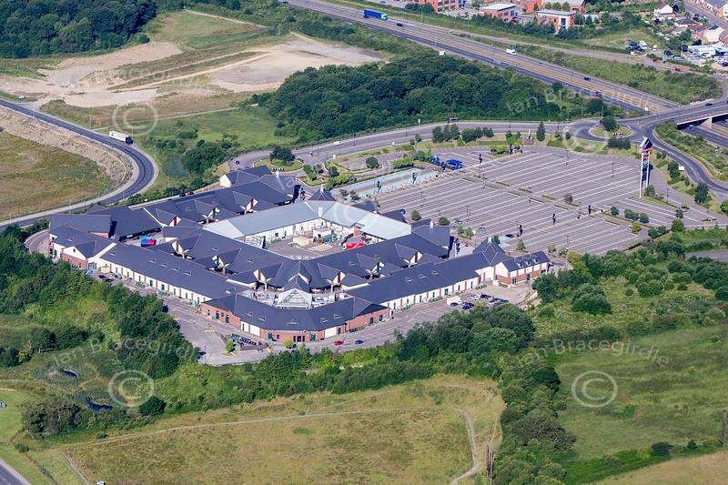Aerial photo of East Midlands Designer Outlet