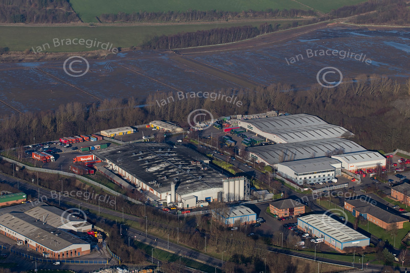 Aerial photo of Moorgreen Industrial Estate in Eastwood.