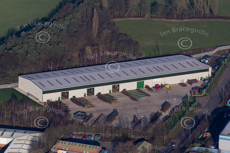 Aerial photo of Moorgreen Industrial Estate in Eastwood.