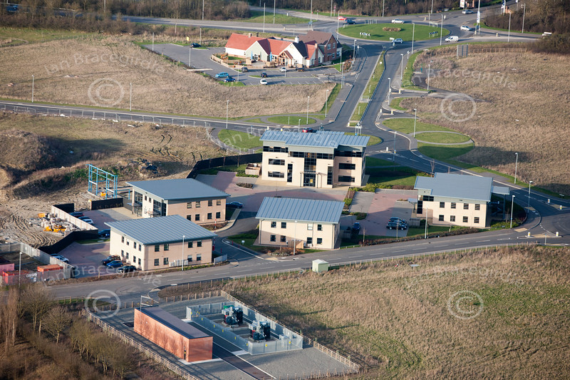 A stock aerial photo of new office complex near Newark in Nottinghamshire.