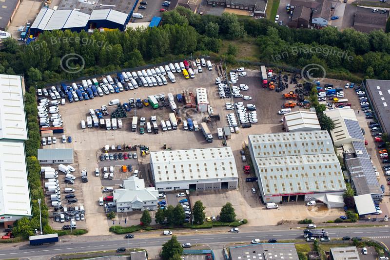 Aerial photo of Finedon Road Industrial Estate, Wellingborough.