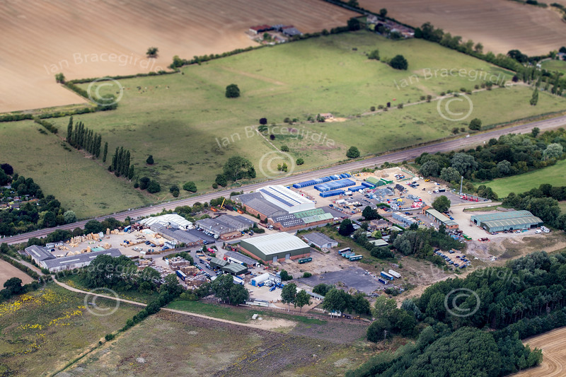 Aerial photo of Finedon Sidings Industrial Estate.