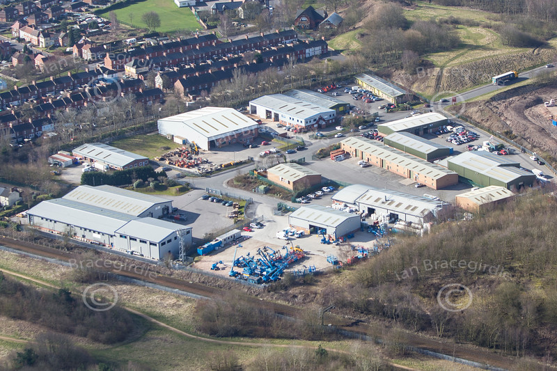 Hazelford Way Industrial Estate from the air.