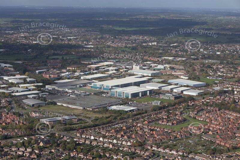 Aerial photo of Heathcote Industrial Estate in Warwickshire.
