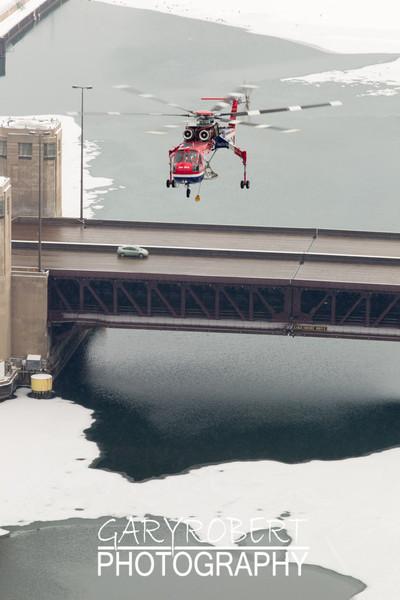 Erickson Air Crane - Sun Bird  over the Chicago River