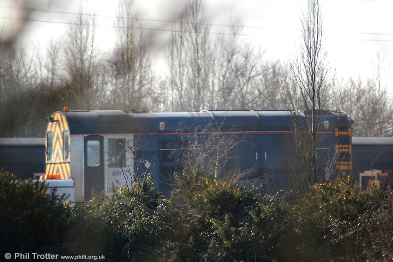 A glimpse of RMS Locotech 08622 on hire to Corus, Trostre on 16th February 2008.