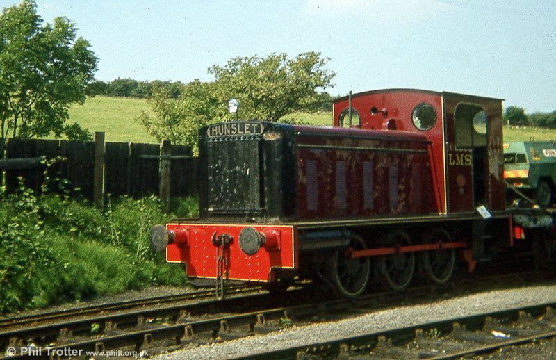 Hunslet 0-6-0DH (2697/1944) at Steamtown, Carnforth masquerading as an LMS shunter. In 2004 it was cut up on site by EMR, Kingsbury.