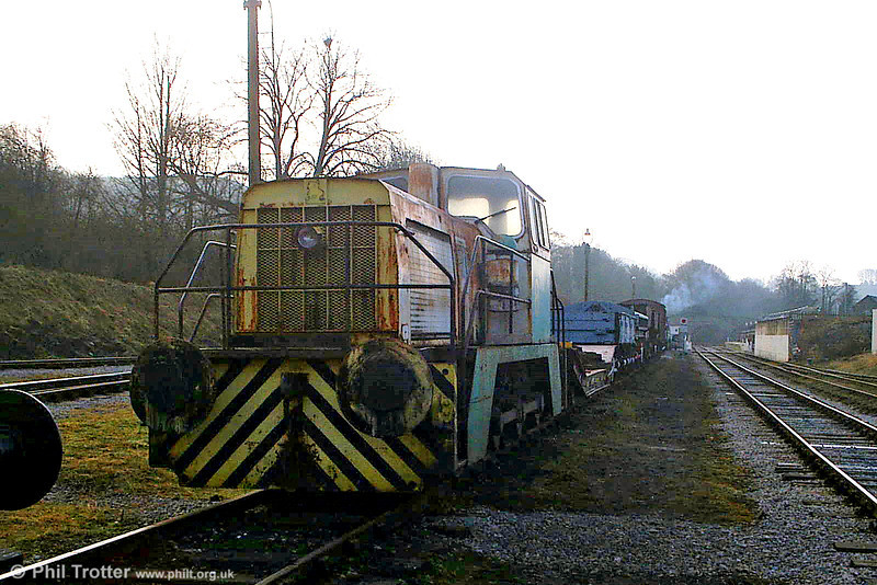 Seen from t'other side, BP Llandarcy no. 8 at Wirksworth, EVR on 20th February 2009. (Picture courtesy Richard Buckby, EVR).