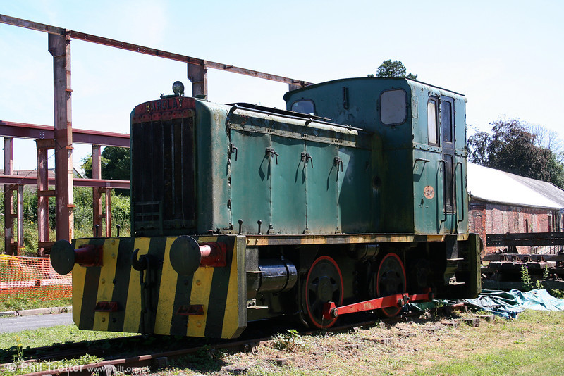 Andrew Barclay 0-4-0DM No.2, (393/1954) at Kidwelly Industrial Museum on 24th July 2006. The 204hp loco formerly worked at Carmarthen Bay Power Station.