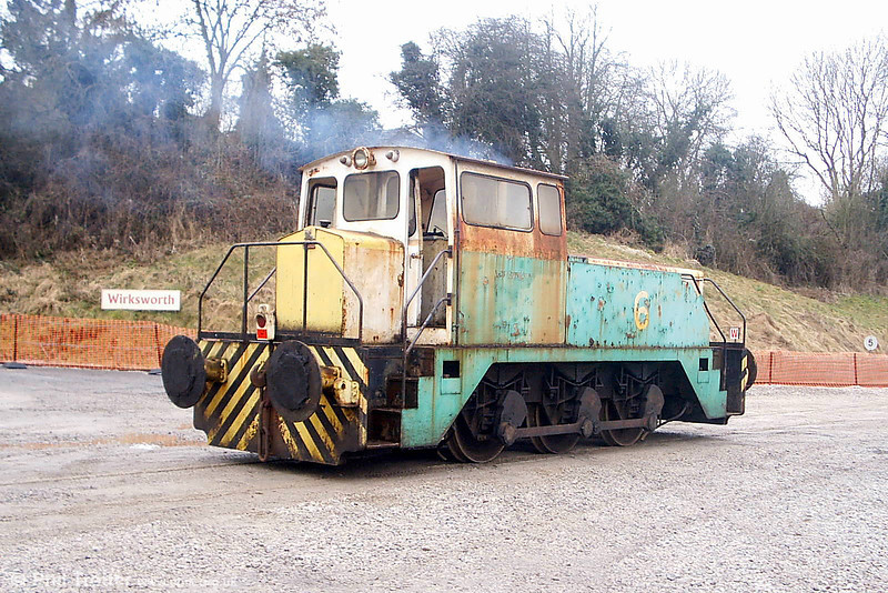 Former BP Llandarcy Thomas Hill 0-6-0DHF no. 6 pictured shortly after arrival at Wirksworth on 18th February 2009. (Picture courtesy Richard Buckby, EVR).