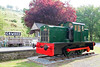 John Fowler 0-4-0DM (22878/1939) No. 169 is nowadays at Erwood Station Craft Centre on the former Mid Wales line from Brecon to Moat Lane which closed to passengers at the end of 1962. It has recently been restored externally as seen on 5th June 2010.