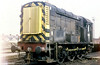 Class 08 no. D3255 which following withdrawal from BR went to work at NCB Maerdy Colliery from May 1981 to May 1987 is seen at Landore for maintenance. The loco has since been preserved.