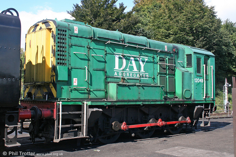 1949-built class 11 no. 12049 retains its Days Aggregates livery at the Mid Hants Railway, as seen at Ropley on 17th September 2005.