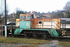 Ex-BP Llandarcy 0-6-0DHF no. 8 in profile at Wirksworth, Ecclesbourne Valley Railway on 20th February 2009. (Picture courtesy Richard Buckby, EVR).