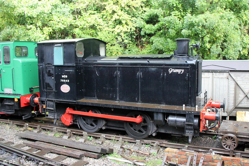 Andrew Barclay 0-4-0DM (358/1941) WD70043 'Grumpy' at Bitton on 19th October 2013.